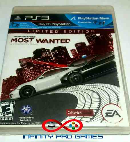 Juego Fisico Need For Speed Most Wanted Para Ps3 Garantia