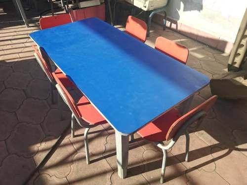 Mesas De Madera Para Niños C/sillas