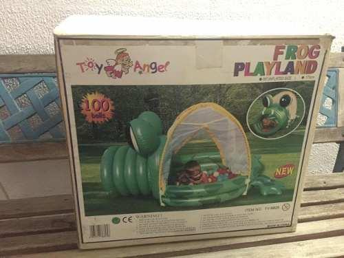 Piscina De Pelotas Toy Angel Forma De Rana En Buen Estado