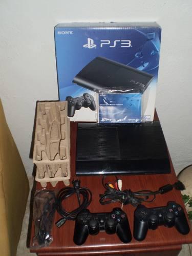 Playstation 3 Super Slim 500gb 2 Controles 3 Juegos