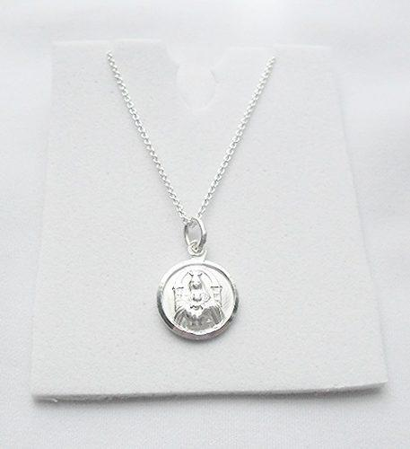 Cadena 50 Cms Plata Italy+ Medalla Virgen Coromoto Plata 925