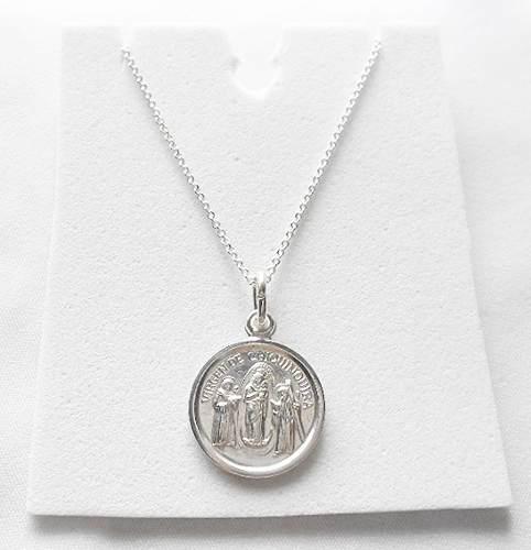 Cadena Plata Italy 50 Cms + Medalla Virgen Chiquinquira