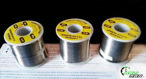 Rollo De Estaño Para Soldar 100mts Diametro 0.8mm 500gr