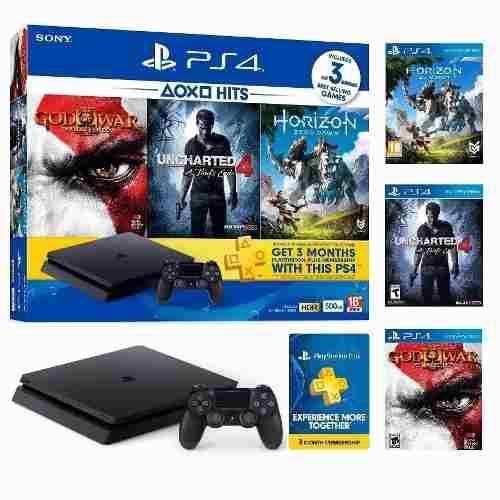 Sony Playstation 4 Ps4 + 3 Juegos Fisicos Slim Nuevo