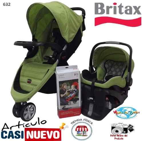 Coche 3 Ruedas Con Portabebe Britax B-aguile Impecable.-