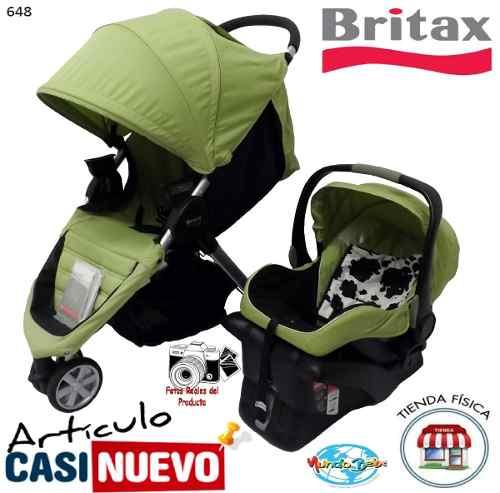 Coche Y Portabebe 3 Ruedas Britax Impecable.-