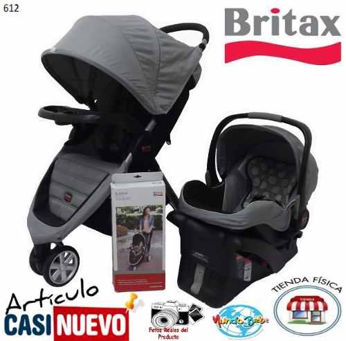 Coche Y Portabebe Britax Con Base De Carro Impecable.-