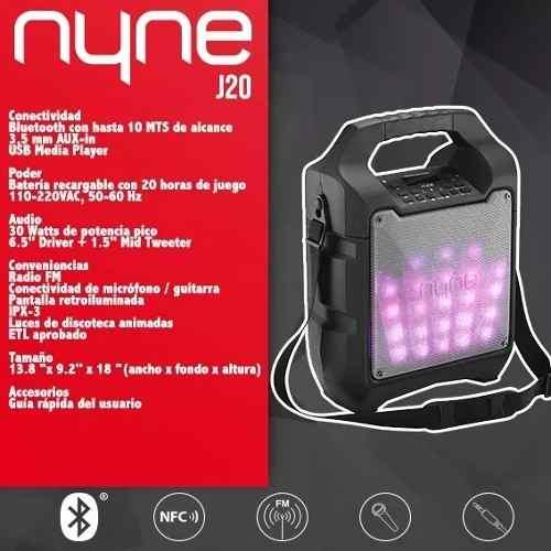 Corneta Portatil Boss Nyne J20 Incluye Microfono