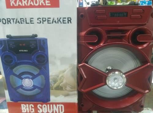 Corneta Portatil Kts-961 Big Sound Bluetooth, Micro Sd