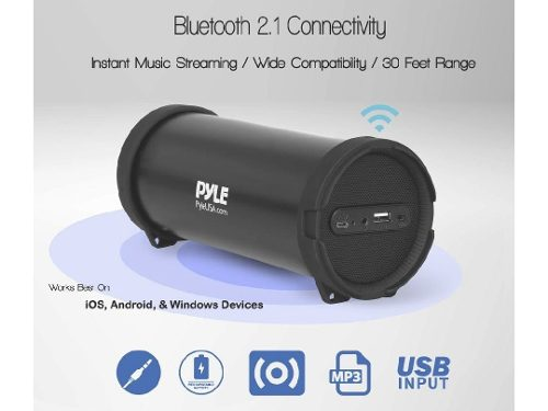 Corneta Portatil Pyle G6 Bluetooth Mp3 Pendrive Aux 3.5mm