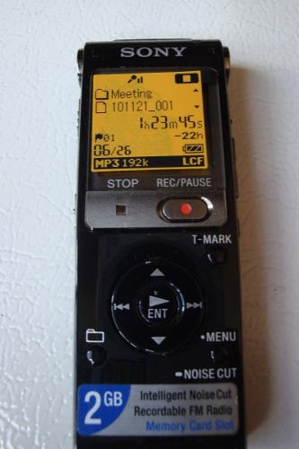 Grabadora Digital Sony 2gb