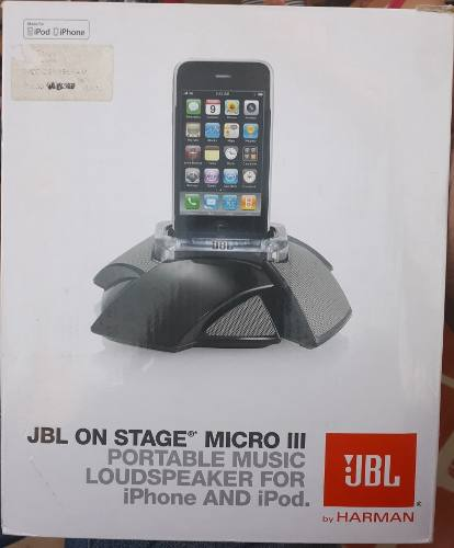Jbl On Stage Micro Iii Sist Cornetas Portatil Ipod Iphone