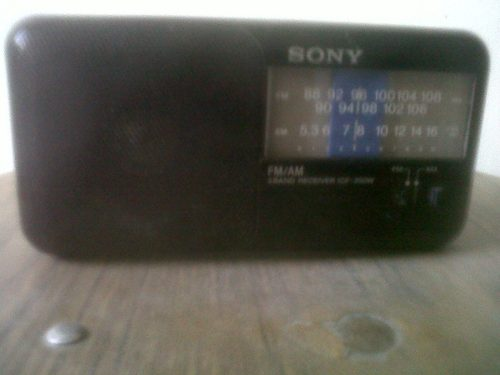 Mini Radio Portatil Sony Am/fm Icf-350w C/asa 2 Pilas Aa