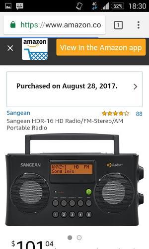 Radio Am/fm Hd Display Digital Con Reloj Y Alarmas