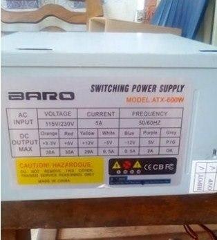 Fuente De Poder Para Pc De 600 Watt