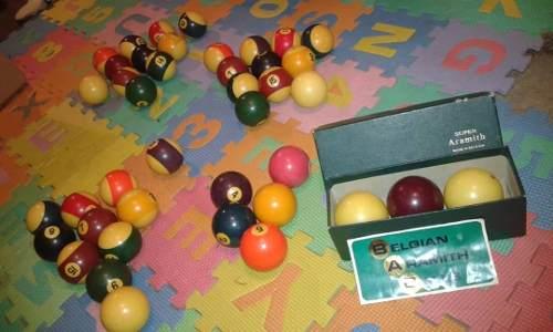 Juego De Bolas De Pool Marca Aramith Fabricadas En Belgica