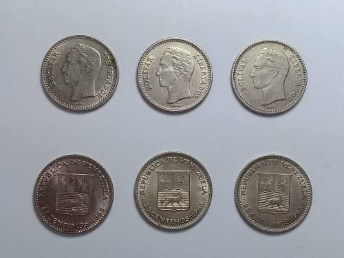 Colección De 6 Monedas Antiguas De Niquel Del Año