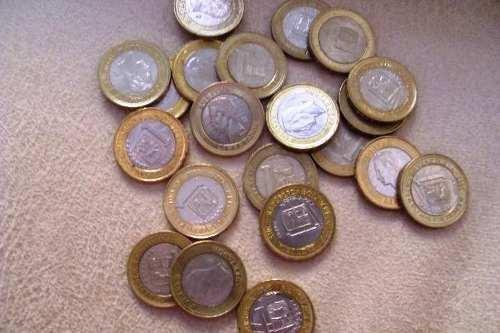 Coleccion Monedas 1 Bolivar Del  Y 12 Borde Dorado