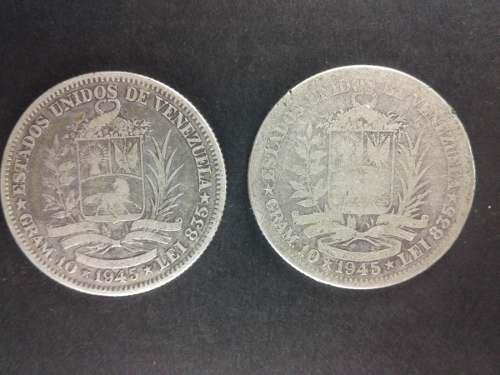 Moneda 2 Bolivares Plata  Lei 835