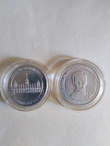 Moneda Bicentenario J.m.vargas Plata grms.