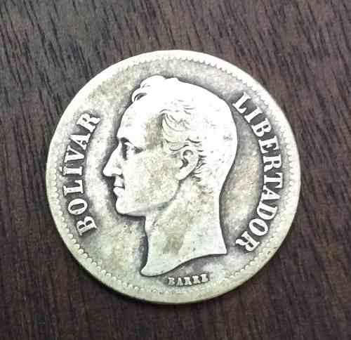 Moneda De 2 Bolívares De Plata