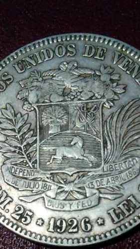 Moneda De Plata 5 Bolivares . Excelente Fuerte (xf/vf)