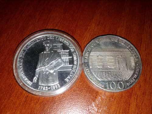Moneda De Plata Bicentenario Nacimiento De Libertador g