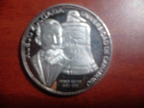 Moneda De Plata Ley Centenario De La Univercidad De Carabobo
