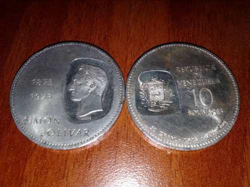 Moneda Venezolana De Plata De 10 Bs  De 30 Gram Ley 900