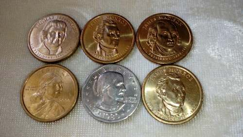 Monedas Americanas De Colección 1d