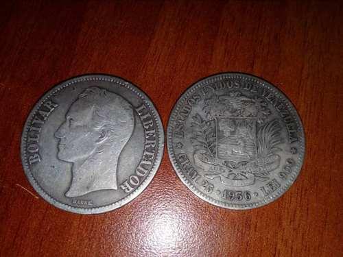 Monedas De Plata De  Y  De 25 Gramos Ley 900