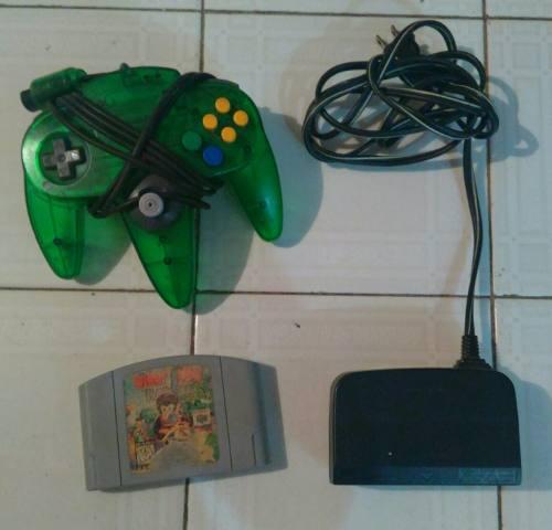 Nintendo 64: Accesorios Y Juego Para Reparar O Repuesto