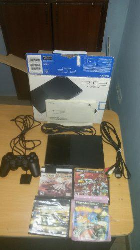 Playstation 2 En Su Caja Y Accesorios. Poco Uso