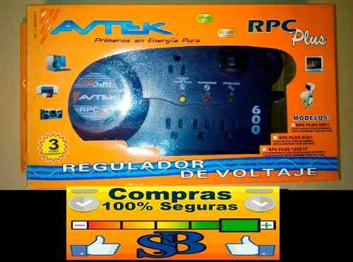 Regulador De Voltaje Avtek Plus 600 Rpc 4t Garantia Tienda F