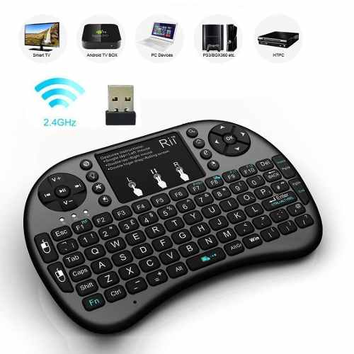 Teclado Mini Bluetooth Inalambrico Iluminado 2.4ghz Tv Pc