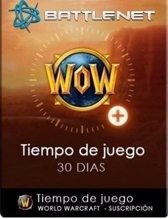 Ficha, Wow Token, Tiempo De Juego (no Oro)