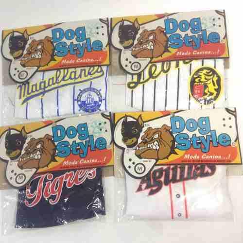 Franela Para Perros Béisbol Accesorios Mascotas Animales