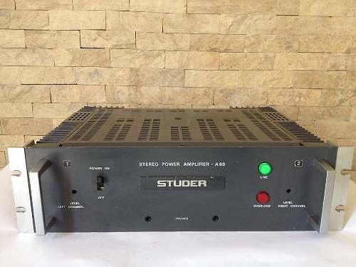 Studer A68 Estéreo Amplificador De Potencia Vintage