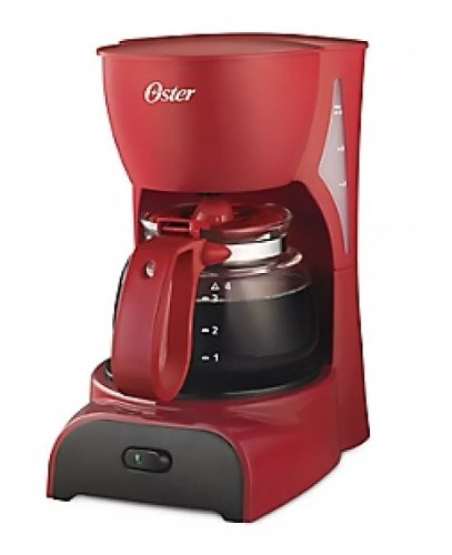 Cafetera 4 Tazas Color Roja Oster Bvstdcdr5