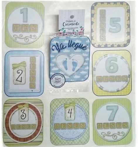 Calcomanias Stickers De Crecimiento Para Bebes