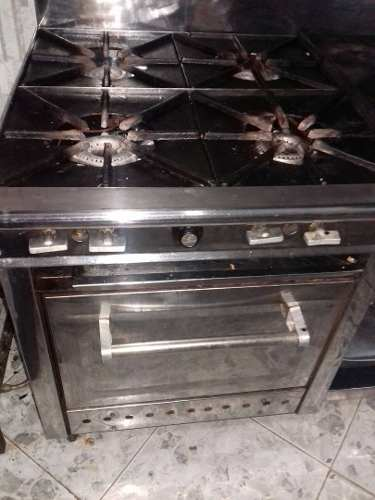 Cocina Industrial Usada 4 Hor. Plancha Horno Y Gratinador