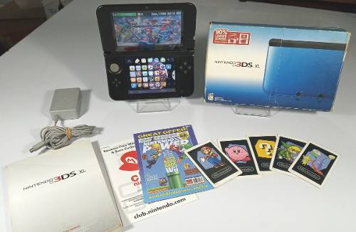 Nintendo 3ds Xl Con Caja, Manuales, Sd 16gb, 10 Jueg, Forro