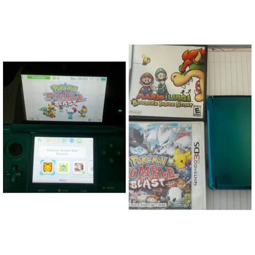 Nintendo Ds 3d + 2 Juegos Originales Oferta
