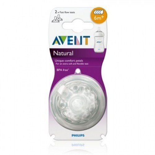 Set De 2 Tetinas Philips Avent Natural 6m+