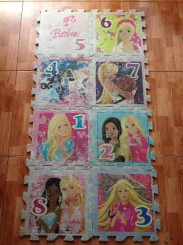 Alfombra Foami Piso De Goma Para Niñas De La Barbie Mattel