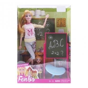 Barbie Profesora Con Bebe Pizarra Enseña Muñeca Juguete