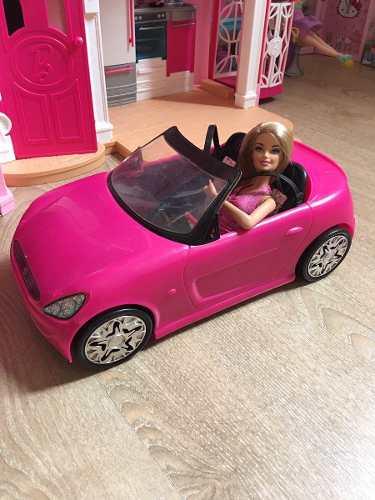 Carro De Barbie Y Barbie Original Mattel