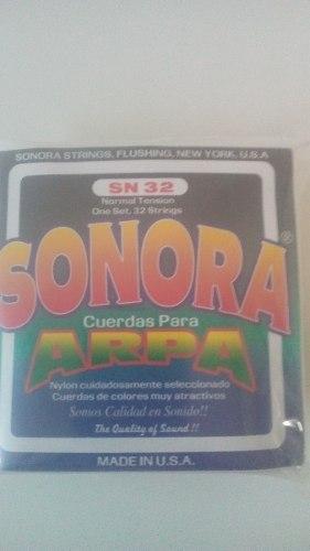 Juego De Cuerdas Para Arpa Sn 32 Made In U.s.a. ''sonora''