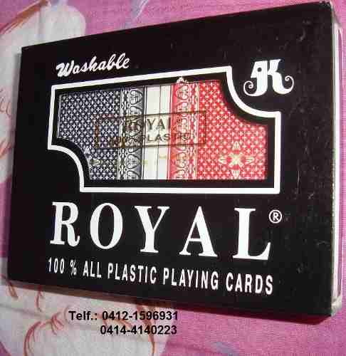 Cartas De Poker Royal. 100% Plásticas. 2 Mazos, Rojo Y