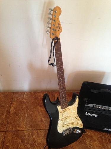 Guitarra Eléctrica Fender Squier Con Amplificador